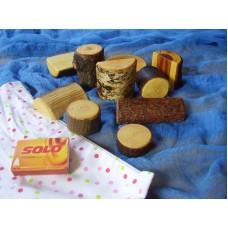 Dřevěné kostky sada malá